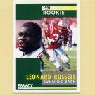 1991 Pinnacle Football #336 Leonard Russell RC - New England Patriots