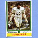 1974 Topps Football #065 Eugene Upshaw - Oakland Raiders Ex
