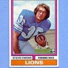 1974 Topps Football #052 Steve Owens - Detroit Lions