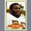 1980 Topps Football #382 Art Shell - Oakland Raiders