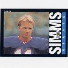 1985 Topps Football #123 Phil Simms - New York Giants