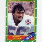 1986 Topps Football #391 Darryl Talley - Buffalo Bills