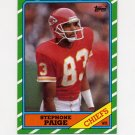 1986 Topps Football #306 Stephone Paige RC - Kansas City Chiefs