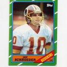 1986 Topps Football #172 Jay Schroeder RC - Washington Redskins