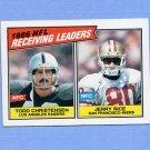 1987 Topps Football #228 Jerry Rice / Todd Christensen LL