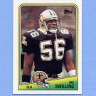 1988 Topps Football #066 Pat Swilling RC - New Orleans Saints