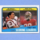 1988 Topps Football #218 Jerry Rice / Jim Breech LL