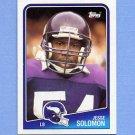 1988 Topps Football #159 Jesse Solomon RC - Minnesota Vikings