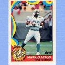 1989 Topps Football 1000 Yard Club #12 Mark Clayton - Miami Dolphins