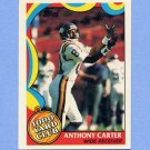 1989 Topps Football 1000 Yard Club #07 Anthony Carter - Minnesota Vikings