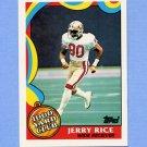 1989 Topps Football 1000 Yard Club #05 Jerry Rice - San Francisco 49ers