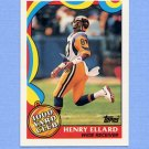 1989 Topps Football 1000 Yard Club #04 Henry Ellard - Los Angeles Rams
