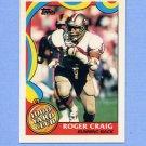 1989 Topps Football 1000 Yard Club #03 Roger Craig - San Francisco 49ers
