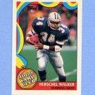 1989 Topps Football 1000 Yard Club #02 Herschel Walker - Dallas Cowboys