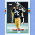 1989 Topps Football #323 Rod Woodson RC - Pittsburgh Steelers
