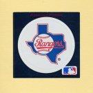 1991 Ultra Baseball Team Logo Stickers Texas Rangers