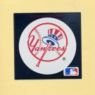 1991 Ultra Baseball Team Logo Stickers New York Yankees