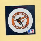 1991 Ultra Baseball Team Logo Stickers Baltimore Orioles