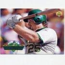 1993 Upper Deck Baseball On Deck #D18 Mark McGwire - Oakland A's
