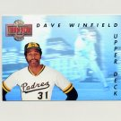 1993 Upper Deck Baseball Then And Now #TN09 Dave Winfield - Toronto Blue Jays