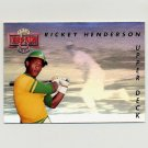 1993 Upper Deck Baseball Then And Now #TN03 Rickey Henderson - Oakland A's