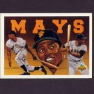 1993 Upper Deck Baseball Mays Heroes #54 Baseball Heroes Checklist / Willie Mays