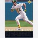1993 Upper Deck Baseball Clutch Performers #R12 Rickey Henderson - Oakland A's