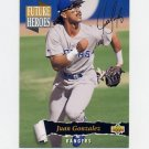 1993 Upper Deck Baseball Future Heroes #58 Juan Gonzalez - Texas Rangers