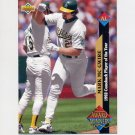 1993 Upper Deck Baseball #493 Mark McGwire AW - Oakland A's