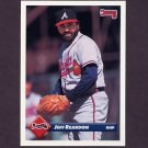 1993 Donruss Baseball #739 Jeff Reardon - Atlanta Braves