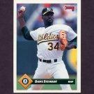 1993 Donruss Baseball #611 Dave Stewart - Oakland A's