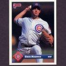 1993 Donruss Baseball #608 Greg Maddux - Chicago Cubs