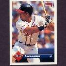 1993 Donruss Baseball #580 David Justice - Atlanta Braves