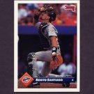 1993 Donruss Baseball #522 Benito Santiago - San Diego Padres