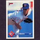 1993 Donruss Baseball #377 Kevin Brown - Texas Rangers