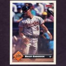1993 Donruss Baseball #089 Brady Anderson - Baltimore Orioles