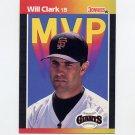 1989 Donruss Baseball Bonus MVP's #BC22 Will Clark - San Francisco Giants
