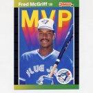 1989 Donruss Baseball Bonus MVP's #BC19 Fred McGriff - Toronto Blue Jays