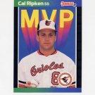 1989 Donruss Baseball Bonus MVP's #BC15 Cal Ripken - Baltimore Orioles
