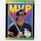 1989 Donruss Baseball Bonus MVP's #BC05 Jose Canseco - Oakland A's