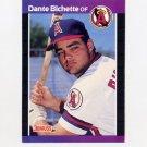 1989 Donruss Baseball #634 Dante Bichette RC - California Angels ExMt