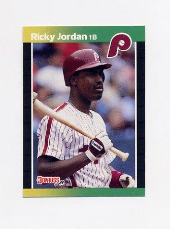 1989 Donruss Baseball #624 Ricky Jordan RC - Philadelphia Phillies