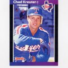 1989 Donruss Baseball #579 Chad Kreuter RC - Texas Rangers
