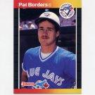 1989 Donruss Baseball #560 Pat Borders RC - Toronto Blue Jays