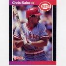 1989 Donruss Baseball #317 Chris Sabo RC - Cincinnati Reds