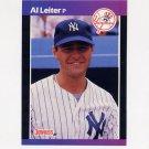 1989 Donruss Baseball #315 Al Leiter - New York Yankees