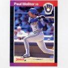 1989 Donruss Baseball #291 Paul Molitor - Milwaukee Brewers