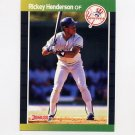 1989 Donruss Baseball #245 Rickey Henderson - New York Yankees
