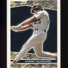 1993 Topps Black Gold Baseball #39 Mark McGwire - Oakland A's