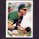 1993 Topps Baseball #796 Scott Brosius - Oakland A's